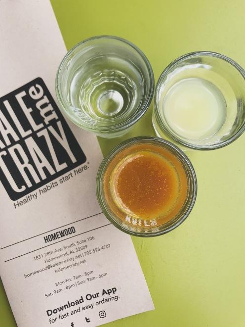 Wellness Shot + Lemon Juice Chaser, Aloe Shot