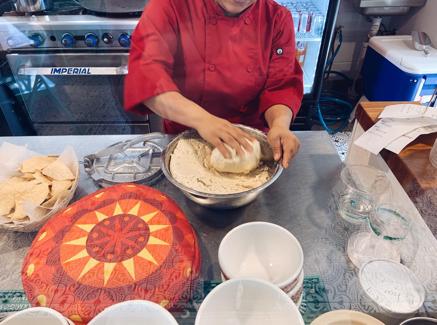 Fresh tortillas at Tuza Tacos